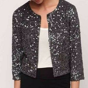 UO Silence + Noise Sequin Crop Cardigan